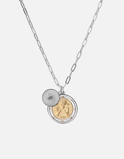 Test of Time Pendant w/Cable Chain Necklace, Sterling Silver/Gold Vermeil - Miansai