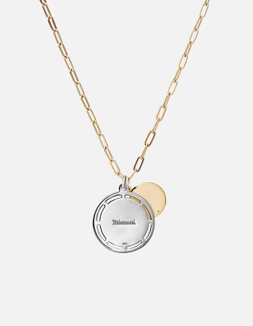 Test of Time Pendant w/Cable Chain Necklace, Sterling Silver/Gold Vermeil, Gold Vermeil - Miansai