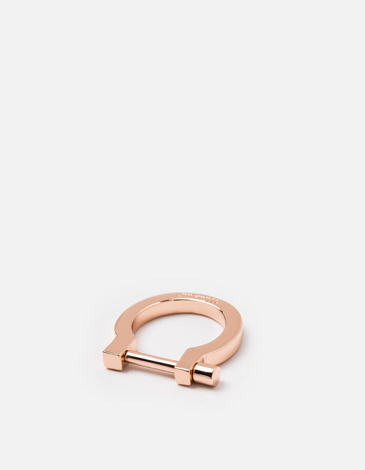 Miansai - Modern Screw Cuff Ring, Rose Plated