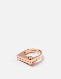 Miansai - Modern Flat Ring, Rose Plated