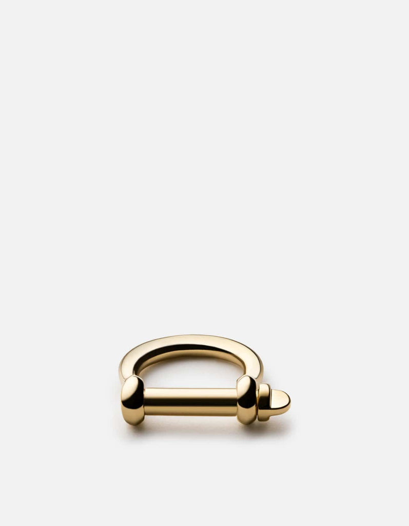 Screw Cuff Ring, 10k Solid Gold