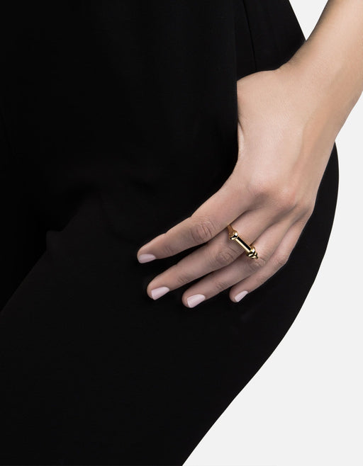 Miansai - Screw Cuff Ring, Gold