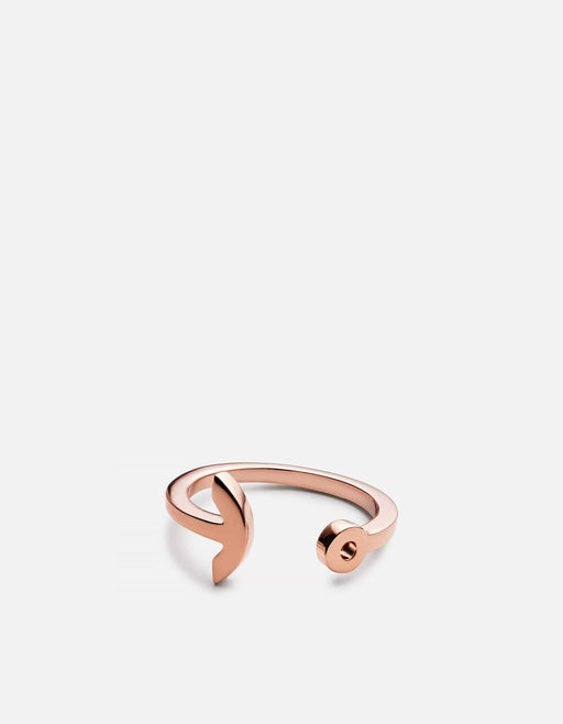 Thin Modern Anchor Ring, Rose Vermeil