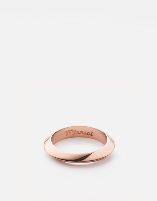 Miansai - Cylinder Ring, Rose Plated
