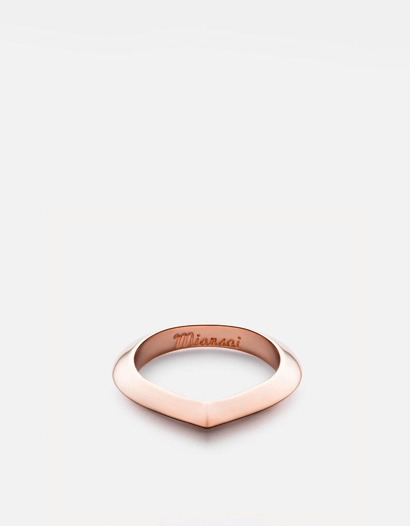 Miansai - Angular Ring, Rose Plated
