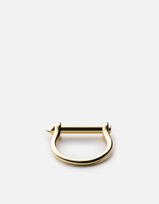 Miansai - Thin Screw Cuff Ring, 10k Gold