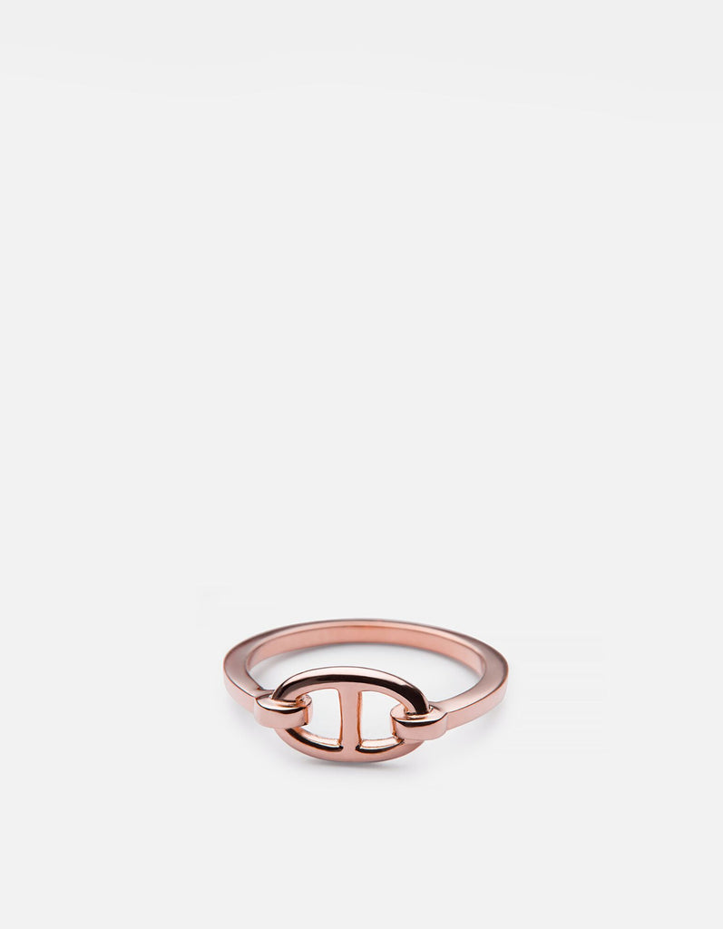 Miansai - Circle Link Ring, Rose Vermeil