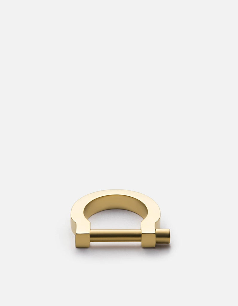 Modern Screw Cuff Ring, Matte Gold Plated | Men's Rings | Miansai