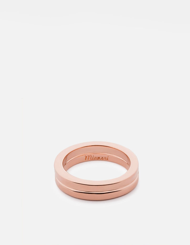 Miansai - Half-Layered Ring, Rose Plated