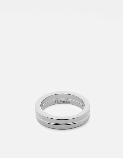 Miansai - Half-Layered Ring, Sterling Silver