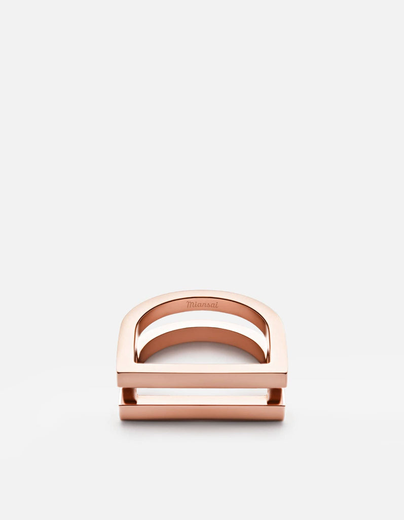Miansai - Square Bar Ring, Rose