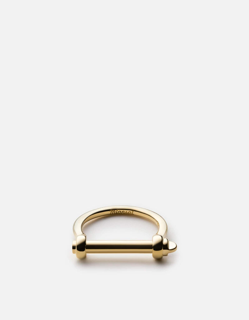 Miansai - Thin Screw Cuff Ring, Gold Vermeil