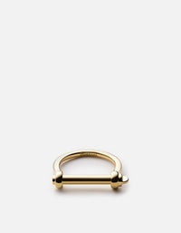 Thin Screw Cuff Ring, Gold Vermeil | Women's Rings | Miansai