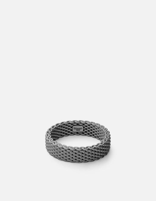 Moore Mesh Ring, Matte Black Rhod | Men's Rings | Miansai
