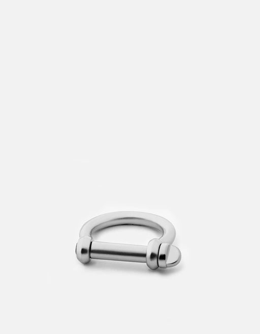 Screw Cuff Ring, Sterling Silver, Matte
