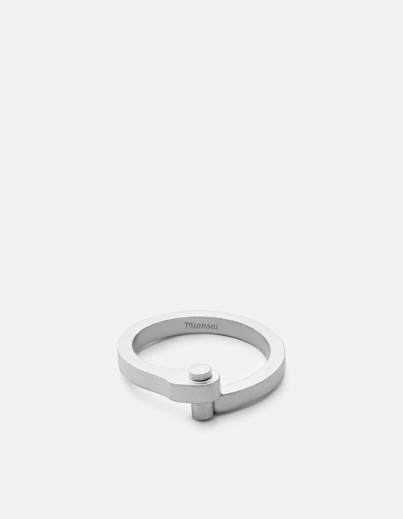 Nyx Ring, Sterling Silver, Matte | Men's Rings | Miansai