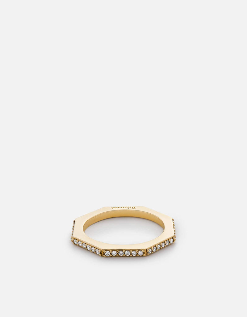 Miansai - Bly Ring, 14k Gold Pavé