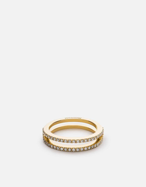 Split Layer Ring, 14k Yellow Gold w/Pave | Women's Rings | Miansai
