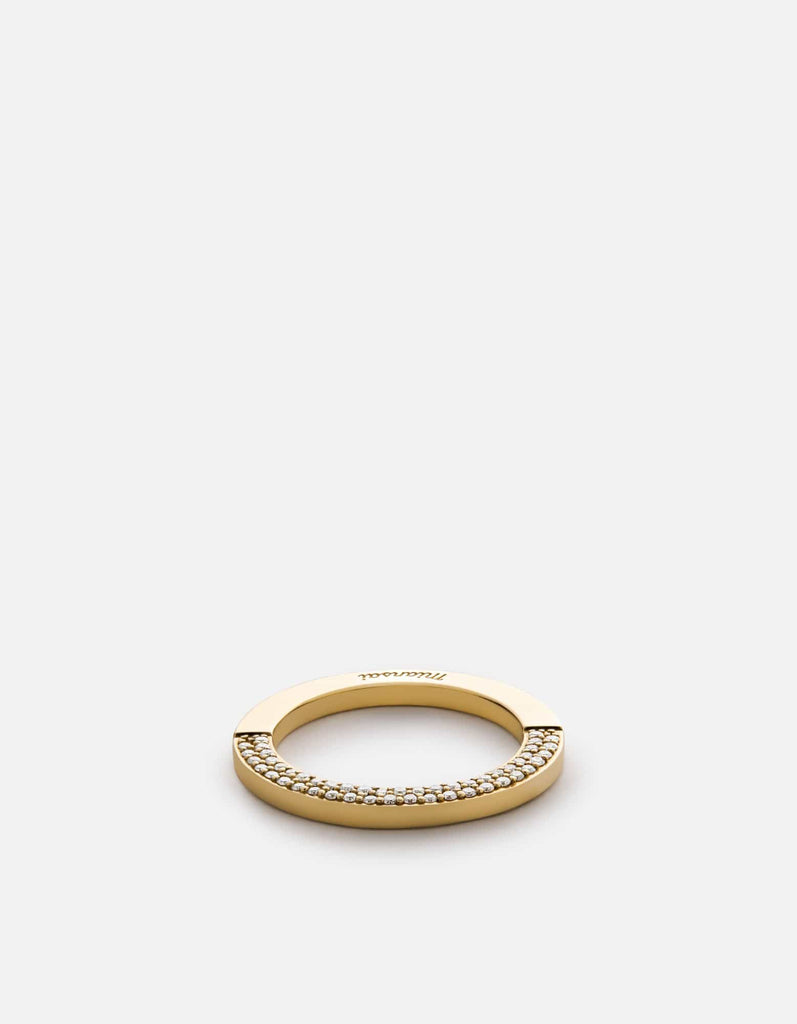 Miansai - Washer Ring, 14k Gold Pavé
