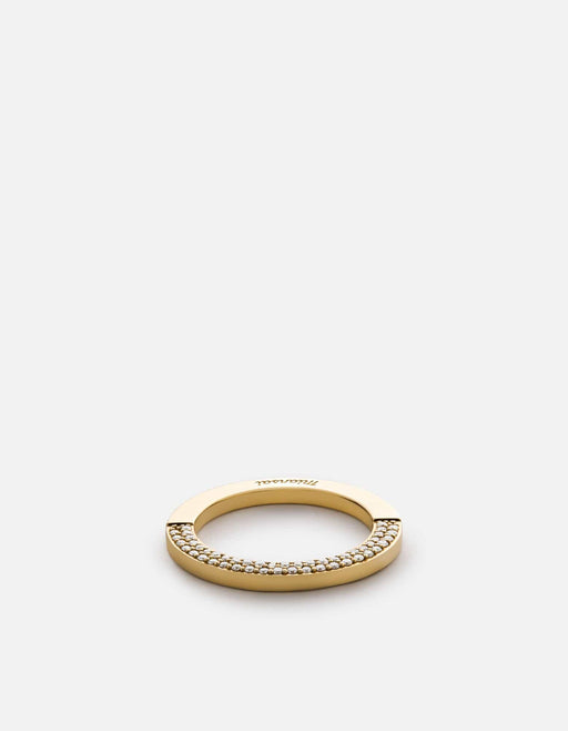 Washer Ring, 14k Gold w/Pave, Polished | Women's Rings | Miansai