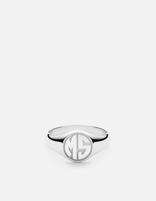 Miansai - Signet Ring, Sterling Silver/ 3 Letter