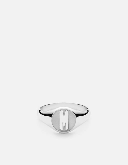 Signet Ring, Sterling Silver/ 3 Letter | Men's Rings | Miansai