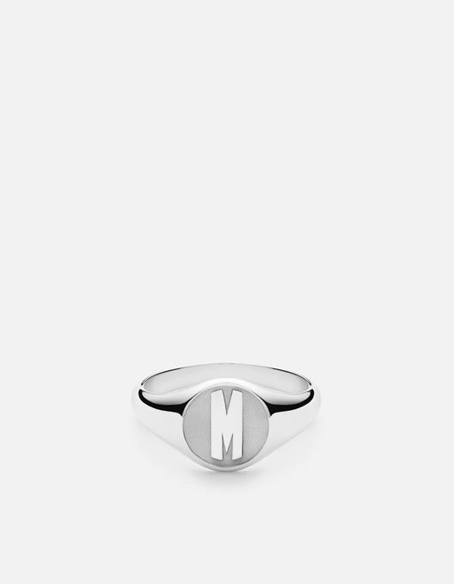 Signet Ring, Sterling Silver/3 Letter | Women's Rings | Miansai