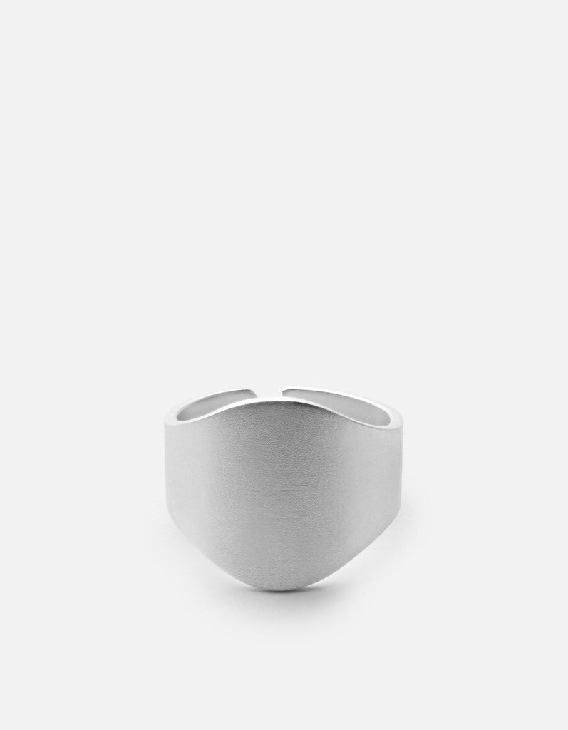 Cigar Band, Matte Sterling Silver | Men's Rings | Miansai