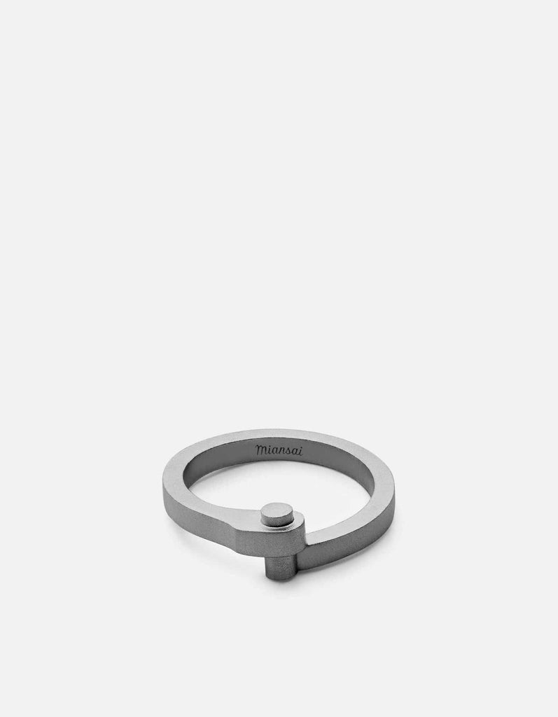Nyx Ring, Matte Black Rhodium | Men's Rings | Miansai