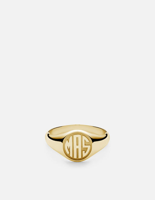 Signet Ring/3 Letter, 14k Yellow Gold | Women's Rings | Miansai