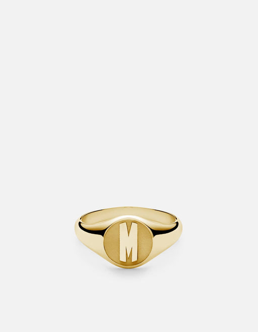 Miansai - Signet Ring, 14k Gold/3 Letter
