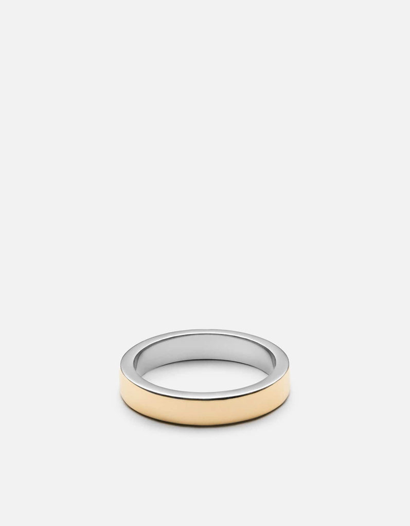 Fusion Ring, Gold/Silver, Polished | Men's Rings | Miansai
