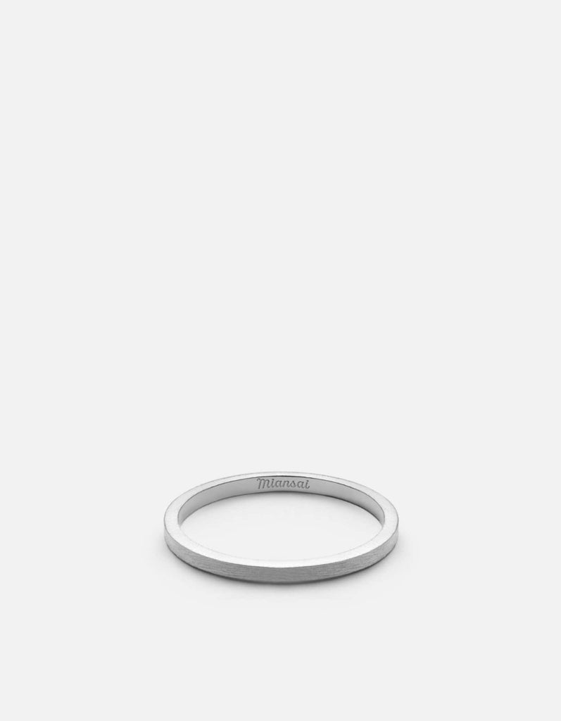 1.5mm Band, Sterling Silver, Brushed, Matte Silver - Miansai
