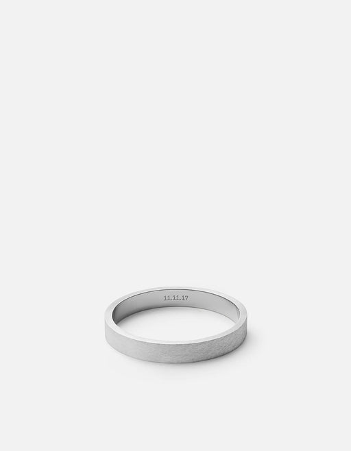 Miansai - 3mm Silver Band, Matte Sterling Silver