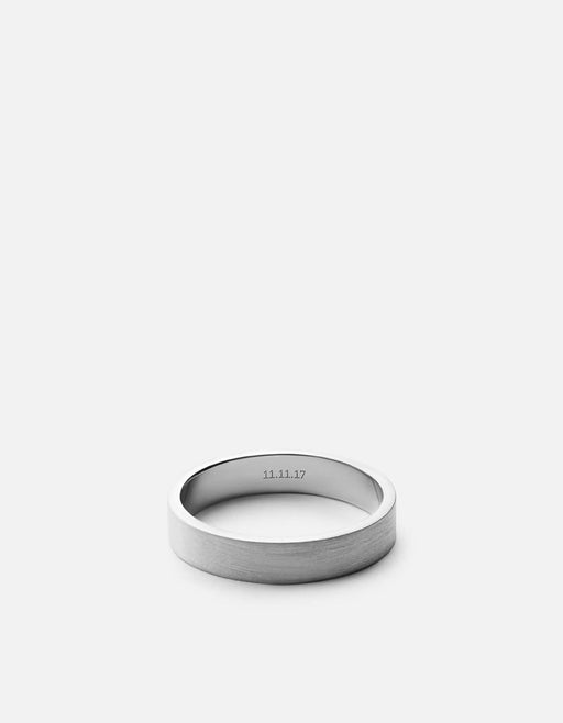 Miansai - 4mm Silver Band, Matte Silver