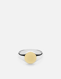 Signet Ring, Sterling Silver/14k Matte Gold | Men's Rings | Miansai