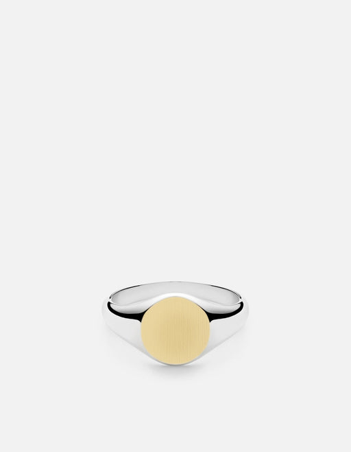 Miansai - Signet Ring, Sterling Silver/14k Matte Gold