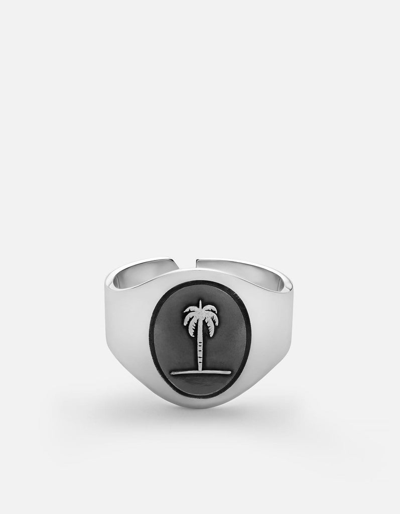 Palm Tree Ring, Sterling Silver | Men's Rings | Miansai