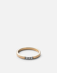 Panel Ring, Gold/Silver, White Sapphire | Women's Rings | Miansai