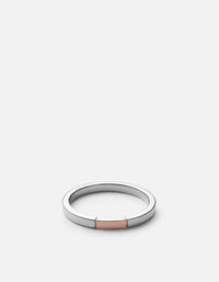 Panel Ring, Silver/Rose, Polished | Women's Rings | Miansai