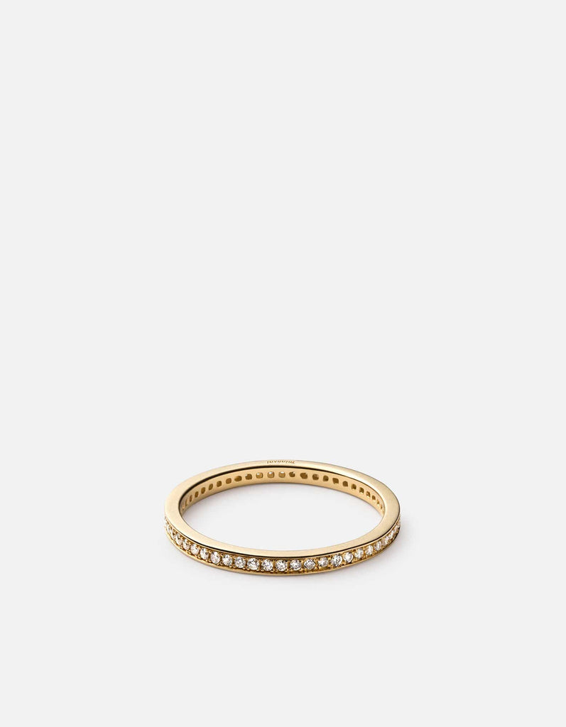 Eclipse Band Ring, 14k Yellow Gold w/Pave, Matte | Women's Rings | Miansai