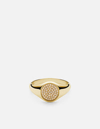 Horizon Signet Ring, Gold Vermeil w/Sapphires, Polished | Women's Rings | Miansai