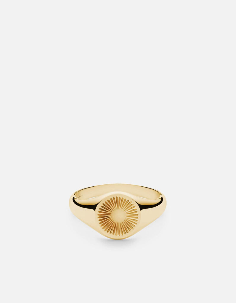 Solar Signet Ring, Gold Vermeil, Polished | Women's Rings | Miansai