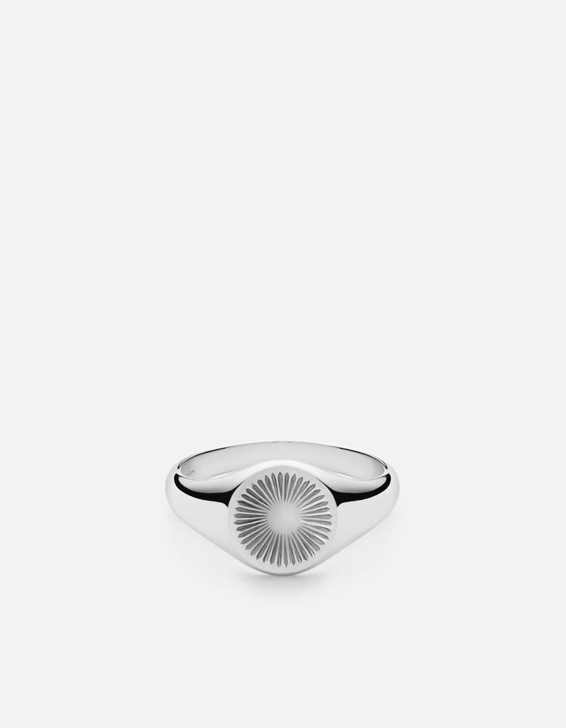 Solar Signet Ring, Sterling Silver, Polished | Men's Rings | Miansai