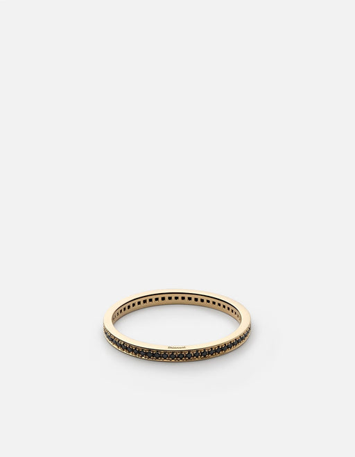 Eclipse Band Ring, 14k Gold/Black Diamonds | Men's Rings | Miansai