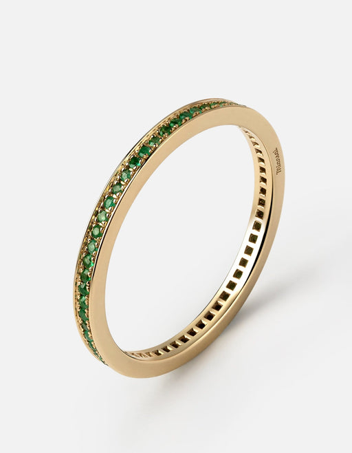 Eclipse Band Ring, 14k Gold/Emeralds | Men's Rings | Miansai