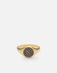 Horizon Signet Ring, 14k Matte Gold/Black Diamonds | Men's Rings | Miansai