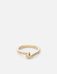Nyx Ring, 14k Gold Pavé | Women's Rings | Miansai