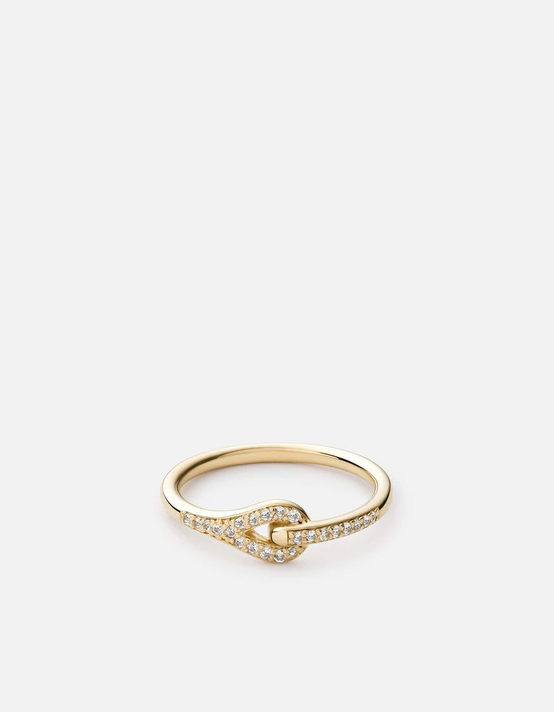 Neo Ring, 14k Gold Pave | Women's Rings | Miansai