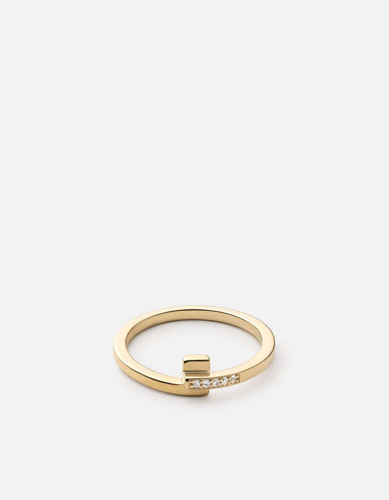 Cubist Ring, Gold Vermeil/Sapphire | Women's Rings | Miansai